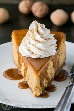 Pumpkin Cheesecake  | This year, make your own cheesecake and make it in the traditional pumpkin flavor that your entire family will love. With all the richness of a good cheesecake, this one boasts pumpkin and warm seasonings. It's so much more interesting!  @natashaskitchen
