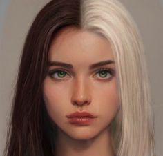 Digital Art Girl, Digital Portrait, Portrait Art, Girl Face, Woman Face, Character Portraits, Character Art, Surealism Art, John Kenn