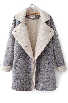 Autumn & Winter New Section Lapel Woolen Overcoat Trench Coat $115