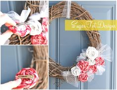 Fourth of July wreath from Sugar Tot designs
