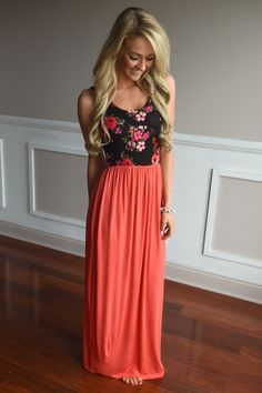 On Your Way Maxi ~ Coral – The Pulse Boutique