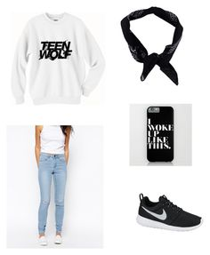 """""""casual asf."""" by vuenatalie on Polyvore featuring NIKE, Pieces and Boohoo"""