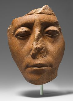 Face of Senwosret III, Middle Kingdom, Dynasty 12, reign of Senwosret III, ca. 1878–1840 b.c. Egyptian. The Metropolitan Museum of Art, New York. Purchase, Edward S. Harkness Gift, 1926 (26.7.1394) #noses #Connections