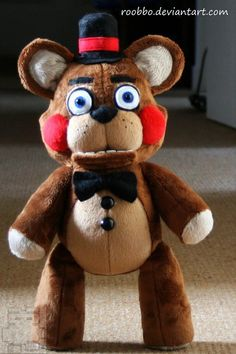 Five Nights At Freddy's Toy Freddy Plush by Roobbo on Etsy this plush is kind of freaking me out