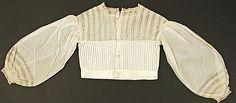 Image 2 of 2: Chemisette Date: 1860–69 Culture: American Medium: cotton