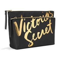 Victorias Secret VS Double Zip Bag Black >>> Click image to review more details. Note:It is Affiliate Link to Amazon.