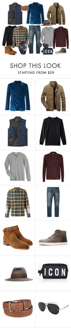 """""""everyday"""" by linapozee ❤ liked on Polyvore featuring Tagliatore, Lands' End, Zilli, Adaptation, R.M.Williams, Undercover, Dsquared2, Tommy Hilfiger, Christian Dior and men's fashion"""