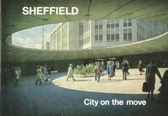 A look back at Sheffield in South Yorkshire during the & The Christmas illuminations are more extensive in this city than anywhere else in the . Sheffield City, Sheffield England, South Yorkshire, Urban Industrial, Amazing Buildings, Slums, Derbyshire, Brutalist, Great Britain