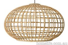Wicker, cane, rattan and bamboo furniture | Handmade using traditional techniques, the Bonito pendant lamp is as light...