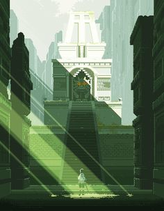 games of the Colossus Cool Pixel Art, Cool Art, Pixel Art Background, Pix Art, Pixel Art Games, Environment Design, Fantasy Landscape, Environmental Art, Aesthetic Art