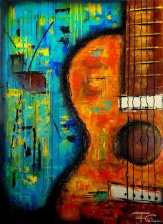Abstract guitarAcrylic Paintings   Art By Fernando Garcia