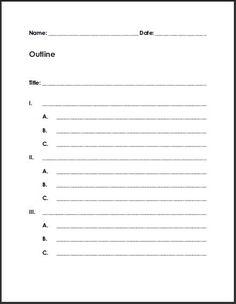 Free Printable Blank Outline
