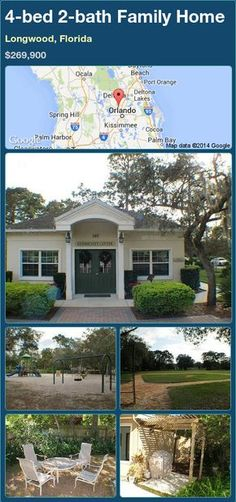 4-bed 2-bath Family Home in Longwood, Florida ►$269,900 #PropertyForSale #RealEstate #Florida http://florida-magic.com/properties/90130-family-home-for-sale-in-longwood-florida-with-4-bedroom-2-bathroom