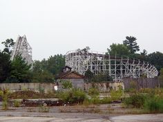 Geauga Lake - Raging Wolf Bobs  Abandoned Geauga Lake on September 4, 2011