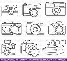 HALF OFF SALE Camera Clipart Clip Art Photography by PinkPueblo