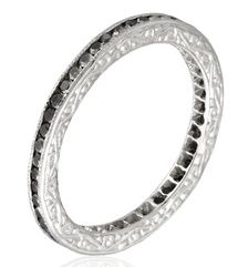 black diamond wedding ring. now this is cool.