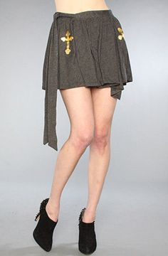 Wildfox  'Cross Ballerina' Skirt, S, Charcoal, BNWT, 100% Authentic, RRP $180 #Wildfox