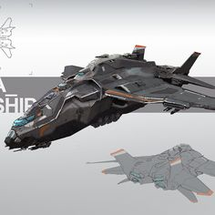 Gunship by Luc Fontenoy on ArtStation.