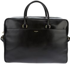 $1,896, Saint Laurent Leather Tote. Sold by farfetch.com. Click for more info: https://lookastic.com/men/shop_items/51321/redirect