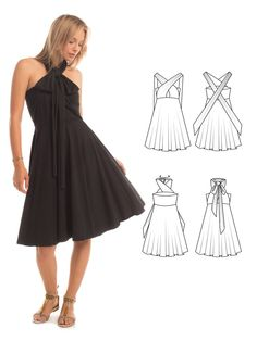 Essential Infinity Dress in Black - Synergy Organic Clothing, one dress, infinite possibilities!