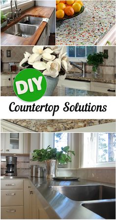 DIY Kitchen Countertop Ideas- Great ways to update your kitchen with a DIY Countertop