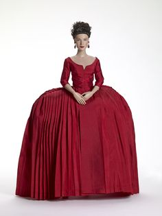 Claire Fraser in Red Dress Outlander Tonner -NRFB- Sold Out- Beautiful Doll 300 Claire Fraser, Jamie And Claire, Jamie Fraser, Claire Outlander, Outlander Series, Dior Gown, Outlander Costumes, 18th Century Fashion, 19th Century