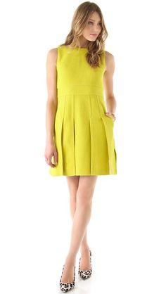 Diane von Furstenberg Jackie Boucle Pleated Dress