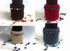 Chair socks with glass beads table legs by LittleFlowerbyGloria