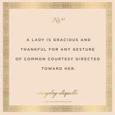 Everyday Etiquette No. 62 // Etiquette // EmilyMcCarthy.com