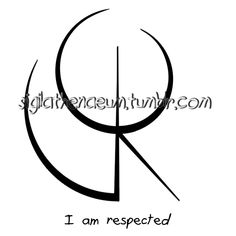 """Sigil Athenaeum — """"I am respected"""" sigil requested by anonymous Cool Symbols, Wiccan Symbols, Magic Symbols, Viking Symbols, Viking Runes, Tarot Meanings, Symbols And Meanings, Wiccan Witch, Witchcraft"""