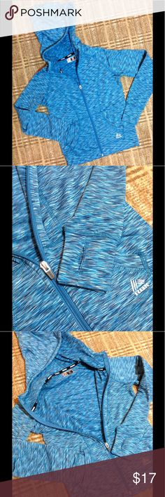 RBX Performance Light Weight Zip Up Hoodie S(7-8) Zip up fashion print hoodie. Fleece lined. 2 front pockets. Performance thumb holes at cuffs. Girls S (7-8). Like New!!! RBX Shirts & Tops Sweatshirts & Hoodies