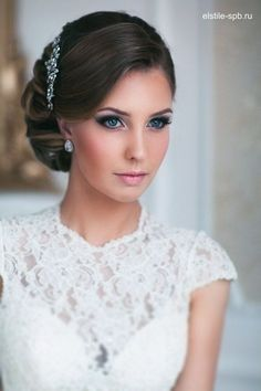 Incredible Long Wedding Hairstyles and Bridal Updo Hairstyles for Long Hair from elstile-spb / www.deerpearlflow… The post Long Wedding Hairstyles and Bridal Updo Hairstyles for Long Hair from elstile-sp… appeared first on New Hairstyles . Side Hairstyles, Wedding Hairstyles For Long Hair, Wedding Hair And Makeup, Bridal Makeup, Hair Makeup, Bridal Beauty, Vintage Wedding Hairstyles, Classic Updo Hairstyles, Bridal Lipstick
