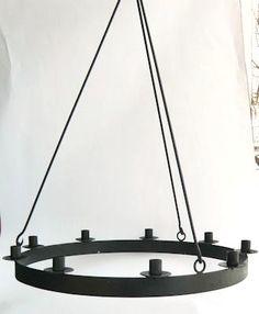 Ljuskrona 9 ljus, 57 cm