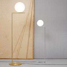 IC Light F designed by Michael Anastassiades for Flos Lighting Decorative Floor Lamps, Lamp Design, Floor Lamp, Flos, Modern Floor Lights, Dimmable Lamp, Floor Lights, Free Standing Lamps, Lights