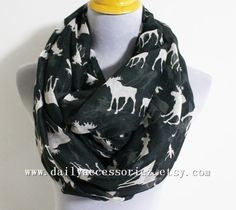 Moose Infinity Scarf Eurasian elk Infinity Scarf Cute Animal Scarf Boho Scarf mother's day gift holiday gift by dailyaccessoriez on Etsy https://www.etsy.com/listing/180448309/moose-infinity-scarf-eurasian-elk