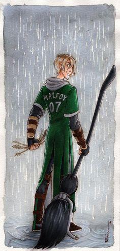 ... and Malfoy caught the Snitch by CaptBexx.deviantart.com on @deviantART