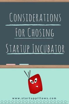 Things you should consider before choosing a startup incubator.