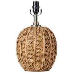 Nate Berkus™ Woven Rattan Table Lamp Base (includes CFL Bulb) @ Target.com