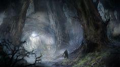 Forest, Dmitry Vishnevsky on ArtStation at http://www.artstation.com/artwork/forest-37340863-5ea8-47e2-b5e7-22bfe9aec64c