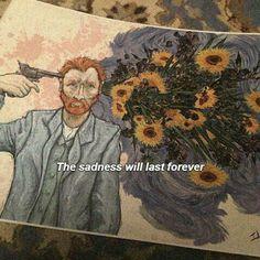 """The sadness will last forever""-Van Gogh Vincent Van Gogh, Art Hoe, Art Inspo, Amazing Art, Art Reference, Illustration, Cool Art, Art Drawings, Art Photography"