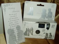 10 Pack Silver Lovers Wedding Disposable 35mm Cameras in Gift Boxes with Matching Tents 27 Exp. $33.99