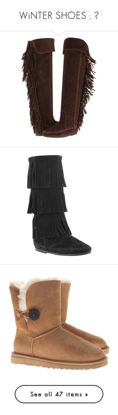 """""""WiNTER SHOES ; ♥"""" by thepolyvoreitemgirls ❤ liked on Polyvore featuring shoes, boots, over-the-knee boots, chocolate suede, over knee boots, above knee boots, over the knee fringe boots, thigh boots, slip on boots and flats"""