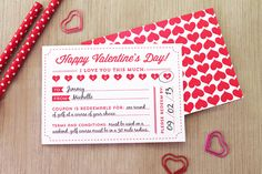 DIY Valentines Day Coupons.