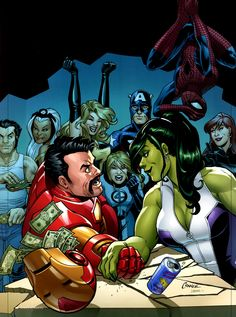 This is not what Steve wanted when he suggested team bonding. She Hulk takes them all!