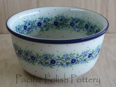 Polish Pottery Deep Bread Bowl (Pattern 86)