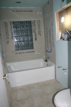 glass block windows in shower learning curve bathroom progress