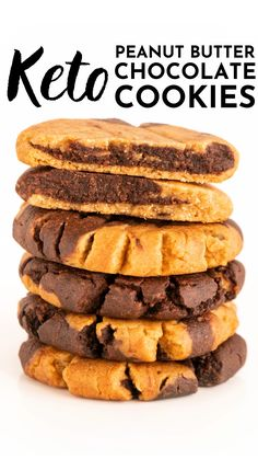 Low Carb Sweets, Low Carb Desserts, Healthy Desserts, Low Carb Recipes, Low Carb Treat, Keto Cookies, Cookies Et Biscuits, Healthy Peanut Butter Cookies, Sin Gluten