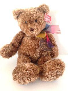 Gotta-Getta-Gund-Bearessence-Brown-Plush-Rainbow-Bow-Teddy-Bear-4890-16-034