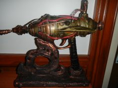 This Steampunk gun has a buck rogers look to it