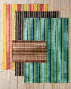 Bertie Stripe Indoor-Outdoor Rug by Dash & Albert, for the kitchen?